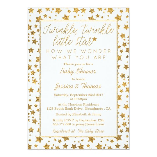twink, twinkle little star baby shower card | zazzle, Baby shower invitations