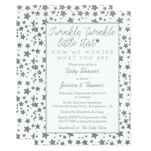 Twink, Twinkle Little Star Baby Shower Invitation