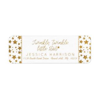 Twink, Twinkle Little Star Baby Shower Label