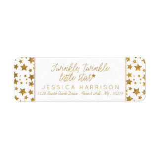 Twink, Twinkle Little Star Baby Shower Label