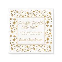 Twink, Twinkle Little Star Baby Shower Paper Napkin