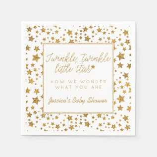 Twink, Twinkle Little Star Baby Shower Paper Napkin at Zazzle