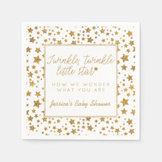 Twink, Twinkle Little Star Baby Shower Paper Napkin
