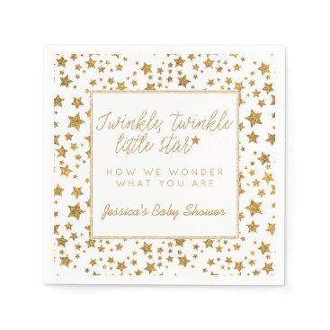 invitation_republic Twink, Twinkle Little Star Baby Shower Paper Napkin