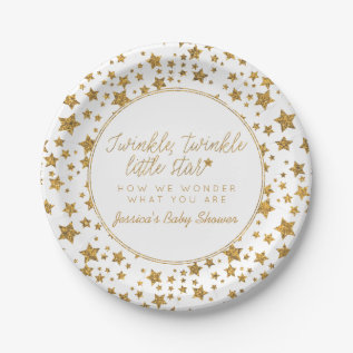 Twink, Twinkle Little Star Baby Shower Paper Plate at Zazzle