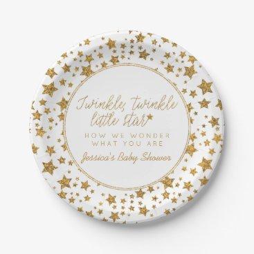 invitation_republic Twink, Twinkle Little Star Baby Shower Paper Plate