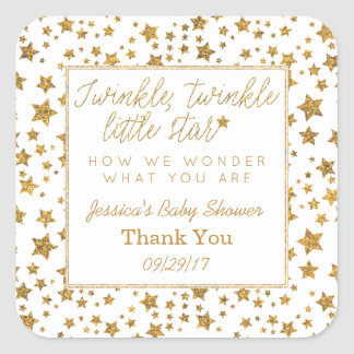 Twink, Twinkle Little Star Baby Shower Thank You Square Sticker