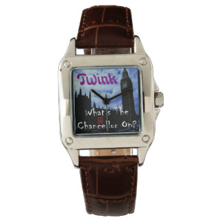 Twink - 'What's The Chancellor On?' watch. Wristwatch