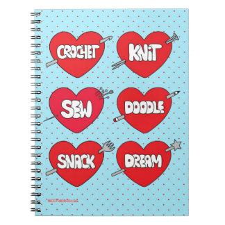 Twinkie Chan Blue Crafty Journal