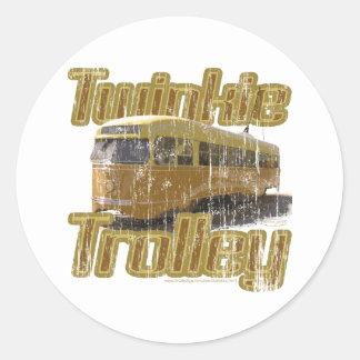 Twinkie Trolley Classic Round Sticker