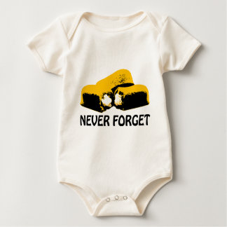 Twinkies Never Forget high contrast design Baby Bodysuit