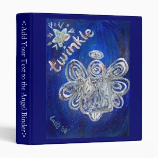 Twinkle Angel Art Binder Notebook