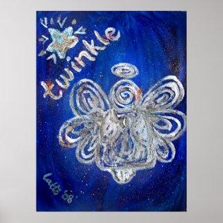 Twinkle Angel Art Print Poster