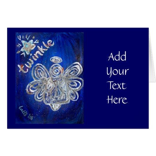 Twinkle Angel Greeting Card or Note Card