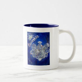 Twinkle Angel Two-Tone Coffee Mug