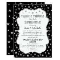 Twinkle Baby Sprinkle invitations, neutral gender Invitation