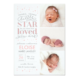 Twinkle Birth Announcement With Love