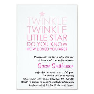 Twinkle Girl Baby Shower Invitation