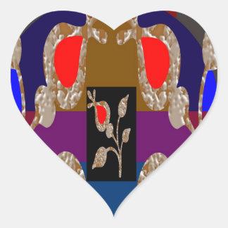 TWINKLE Gold n Silver Engraved Jewels Heart Sticker