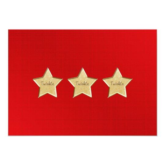 Twinkle Gold Star Invitation