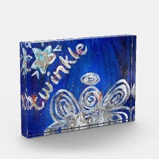 Twinkle Guardian Angel Art Paperweight Award