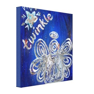 Twinkle Guardian Angel Art Wrapped Canvas Painting