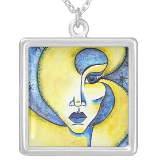 Twinkle in Her Eye Square Necklace
