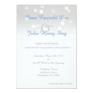Twinkle Light Wedding Invitation