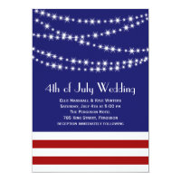 Twinkle Lights 4th of July Wedding Invitation