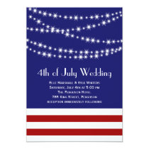 Twinkle Lights 4th of July Wedding Invitation