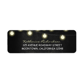 twinkle lights black chalkboard address labels