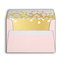 Twinkle Lights Blush and Gold Envelope