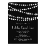 Twinkle Lights Holiday Open House (black) 5x7 Paper Invitation Card