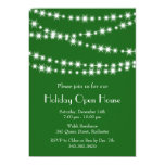 Twinkle Lights Holiday Open House (green) Personalized Announcement
