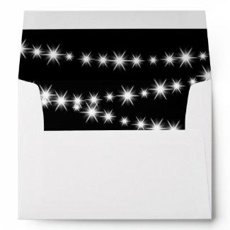 Twinkle Lights Invitation Envelope (black) zazzle_envelope
