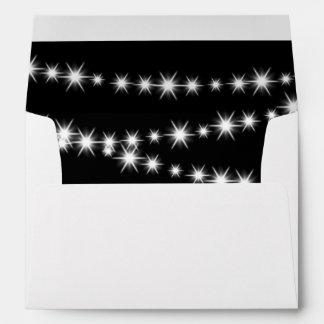 Twinkle Lights Invitation Envelope (black)