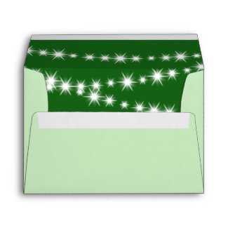 Twinkle Lights Invitation Envelope (green)