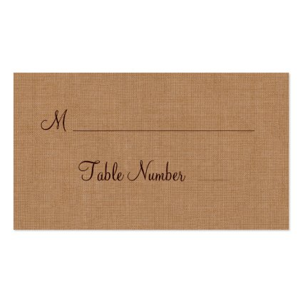Twinkle Lights on Burlap Place Card Business Card Template