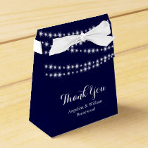 Twinkle Lights on Navy Favor Box