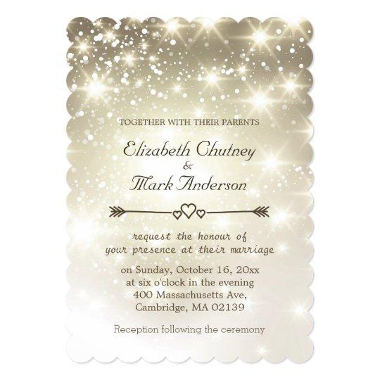 Twinkle Lights Outdoor Wedding Invitation Zazzle Com