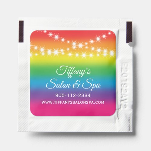 Twinkle Lights Promotional Business _ Rainbow Hand Sanitizer Packet