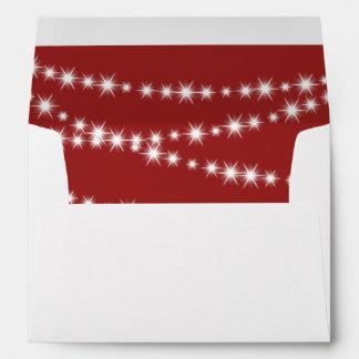 Twinkle Lights (red) Envelope