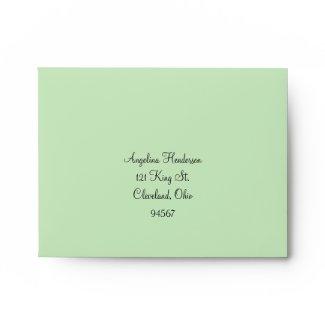 Twinkle Lights RSVP Envelope (green)