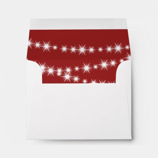 Twinkle Lights RSVP Envelope (red)