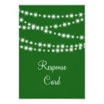 "Twinkle Lights RSVP (green) 3.5"" X 5"" Invitation Card"