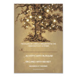Twinkle Lights Tree Rustic Wedding Rsvp Card at Zazzle