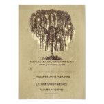 "Twinkle Lights Tree Rustic Wedding RSVP card 3.5"" X 5"" Invitation Card"