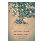 Twinkle Lights Tree Rustic Wedding RSVP card Personalized Invitations