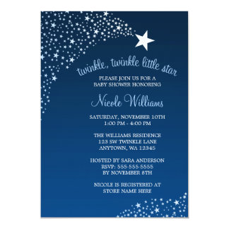 Twinkle Little Shooting Star Baby Shower Card