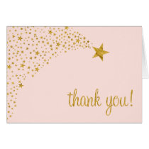 Twinkle Little Shooting Star Pink Gold Thank You